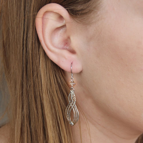 boucle oreille femme argent zirconium 9300073 pic5