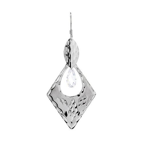 boucle oreille femme argent zirconium 9300074 pic2