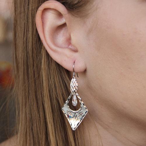boucle oreille femme argent zirconium 9300074 pic5