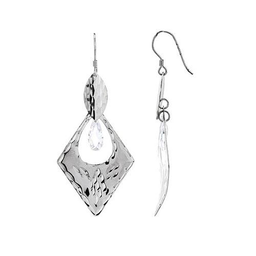 boucle oreille femme argent zirconium 9300074
