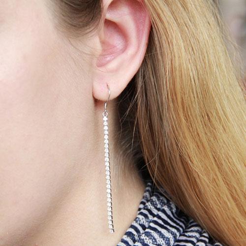 boucle oreille femme argent zirconium 9300075 pic5