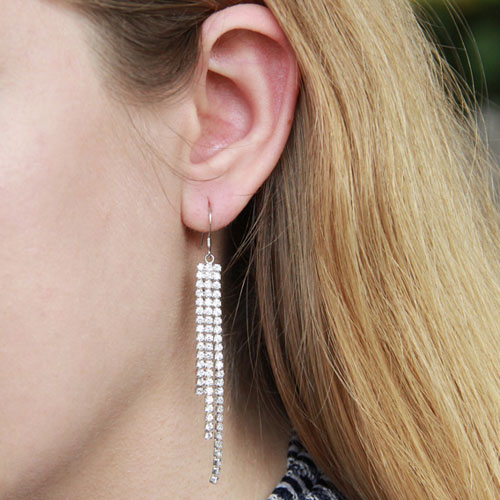 boucle oreille femme argent zirconium 9300077 pic5
