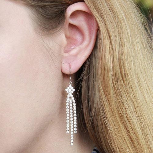 boucle oreille femme argent zirconium 9300078 pic5
