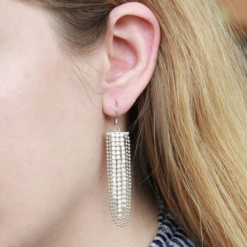 boucle oreille femme argent zirconium 9300080 pic5