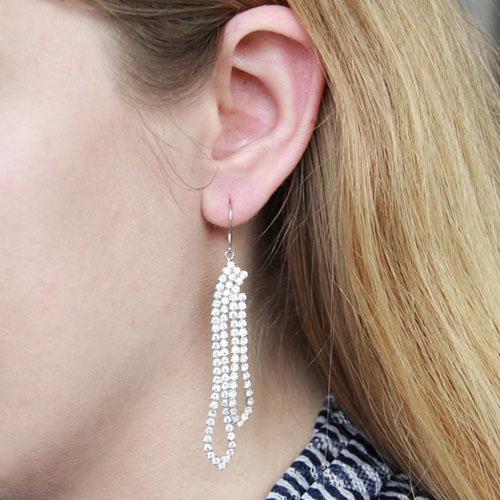 boucle oreille femme argent zirconium 9300081 pic6