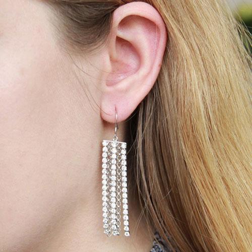 boucle oreille femme argent zirconium 9300082 pic5