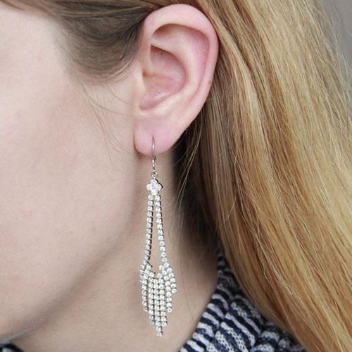 boucle oreille femme argent zirconium 9300083 pic5