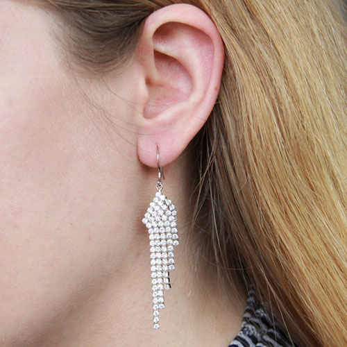 boucle oreille femme argent zirconium 9300085 pic6