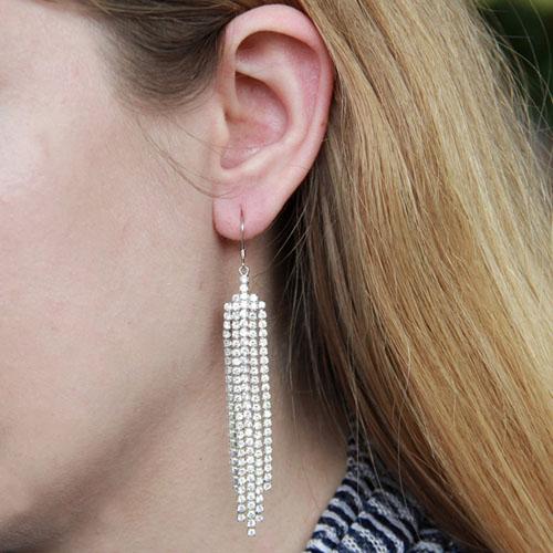 boucle oreille femme argent zirconium 9300086 pic5