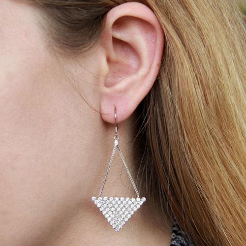 boucle oreille femme argent zirconium 9300087 pic5