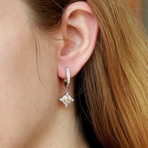 boucle oreille femme argent zirconium 9300088 pic5