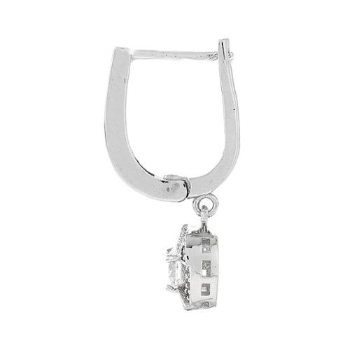 boucle oreille femme argent zirconium 9300092 pic3