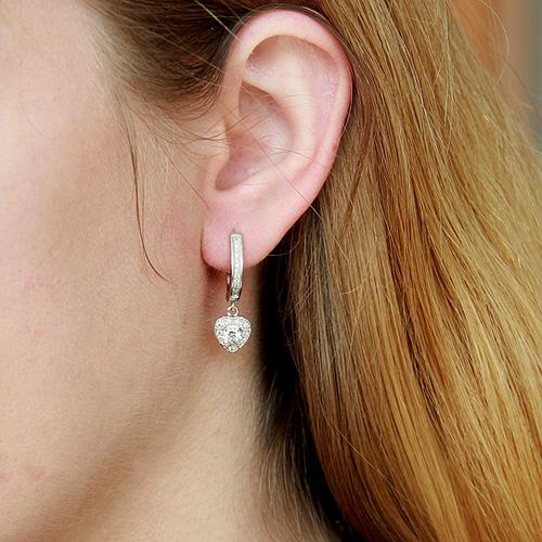 boucle oreille femme argent zirconium 9300092 pic5