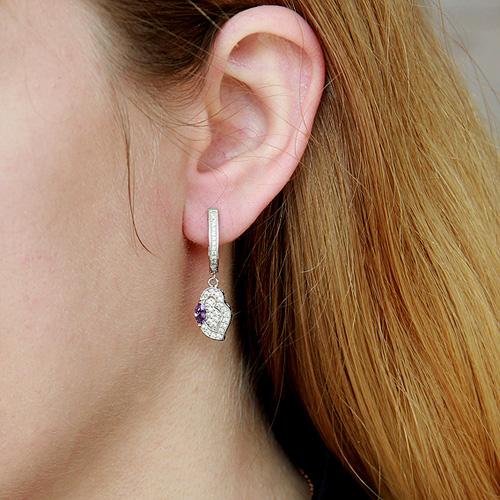 boucle oreille femme argent zirconium 9300093 pic5