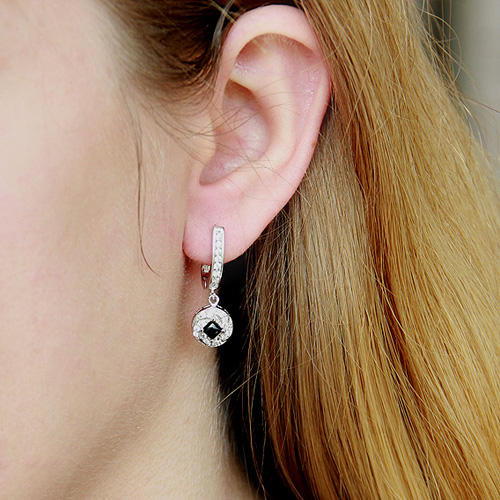 boucle oreille femme argent zirconium 9300094 pic5