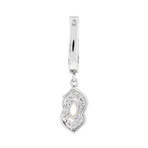 boucle oreille femme argent zirconium 9300095 pic4