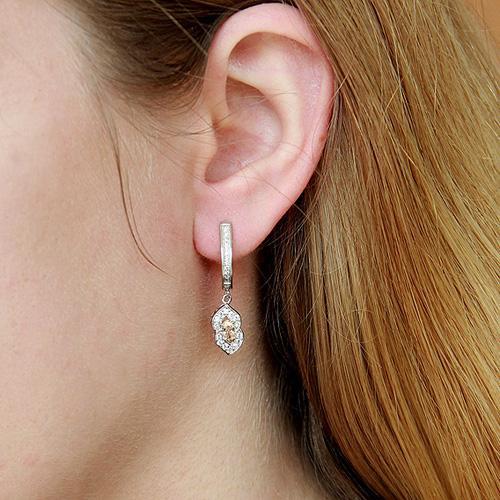 boucle oreille femme argent zirconium 9300095 pic5