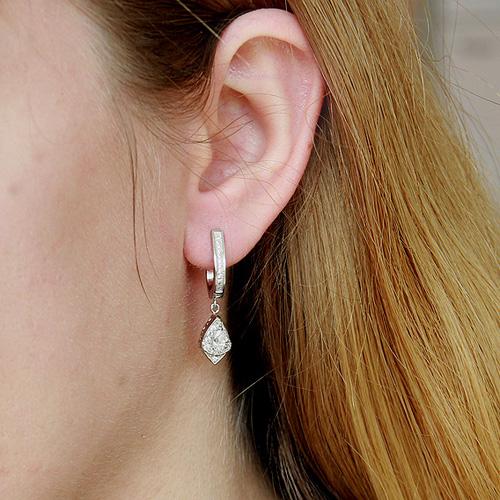 boucle oreille femme argent zirconium 9300096 pic5