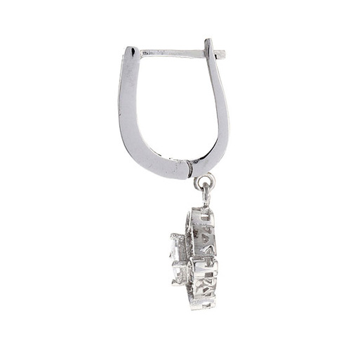 boucle oreille femme argent zirconium 9300097 pic3