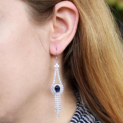 boucle oreille femme argent zirconium 9300100 pic5