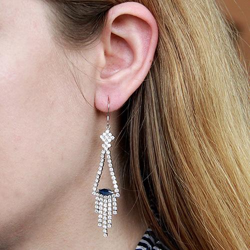boucle oreille femme argent zirconium 9300101 pic5