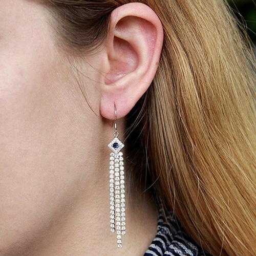 boucle oreille femme argent zirconium 9300102 pic5