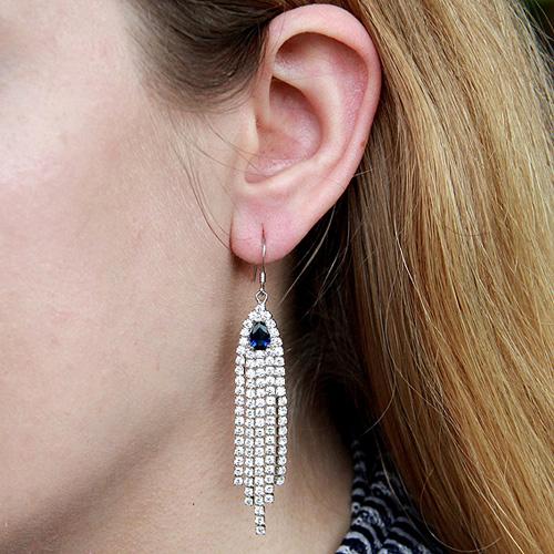 boucle oreille femme argent zirconium 9300103 pic5