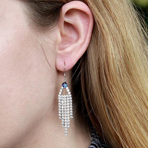 boucle oreille femme argent zirconium 9300104 pic5