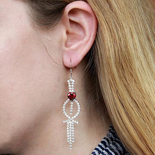 boucle oreille femme argent zirconium 9300106 pic5