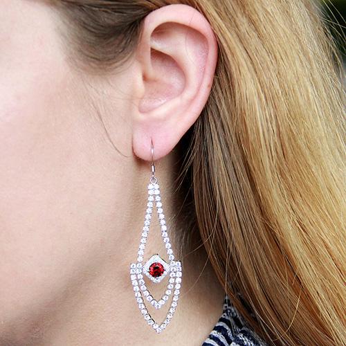 boucle oreille femme argent zirconium 9300110 pic5