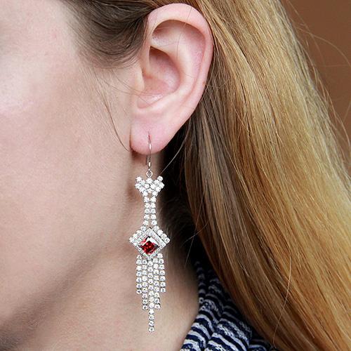 boucle oreille femme argent zirconium 9300112 pic5