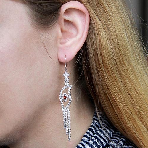 boucle oreille femme argent zirconium 9300114 pic5