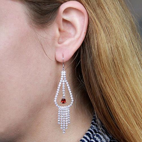 boucle oreille femme argent zirconium 9300115 pic5