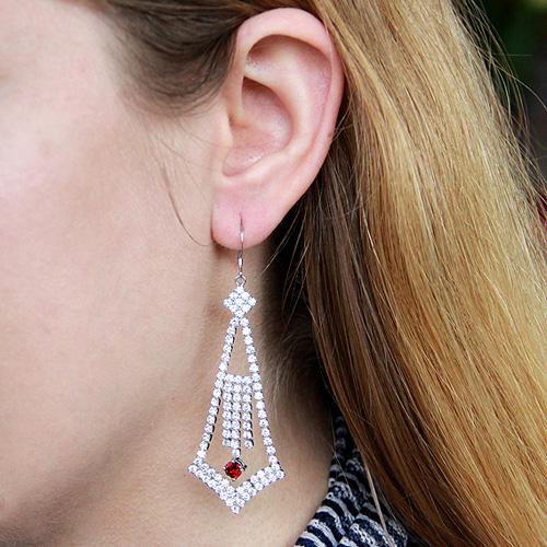 boucle oreille femme argent zirconium 9300116 pic5