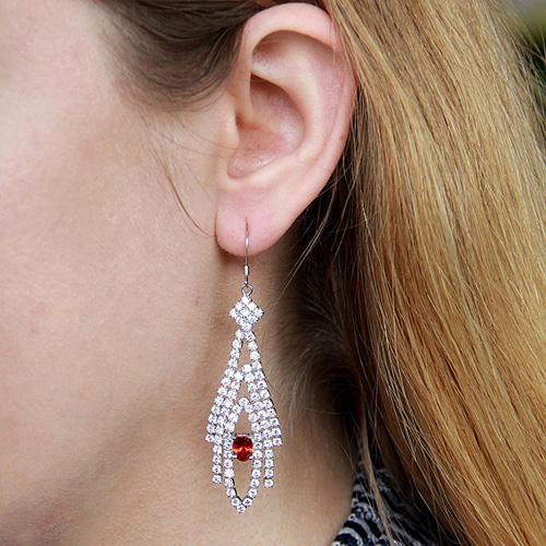 boucle oreille femme argent zirconium 9300117 pic5