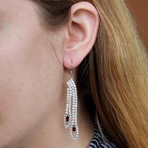 boucle oreille femme argent zirconium 9300118 pic5