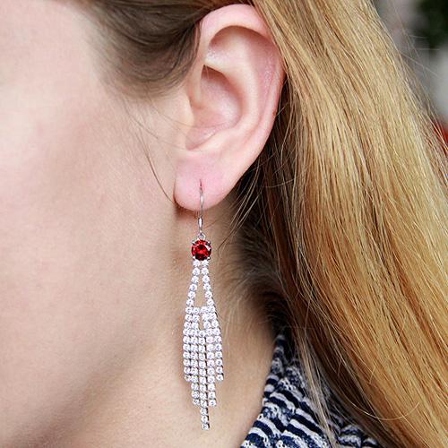 boucle oreille femme argent zirconium 9300119 pic5