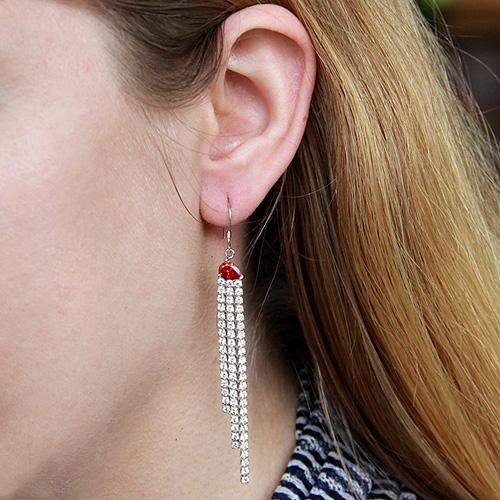 boucle oreille femme argent zirconium 9300120 pic5
