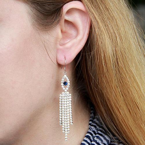 boucle oreille femme argent zirconium 9300122 pic5