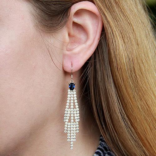 boucle oreille femme argent zirconium 9300123 pic5