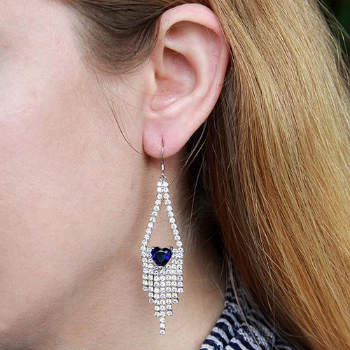 boucle oreille femme argent zirconium 9300125 pic5