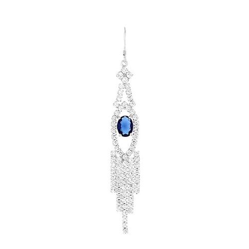 boucle oreille femme argent zirconium 9300126 pic2