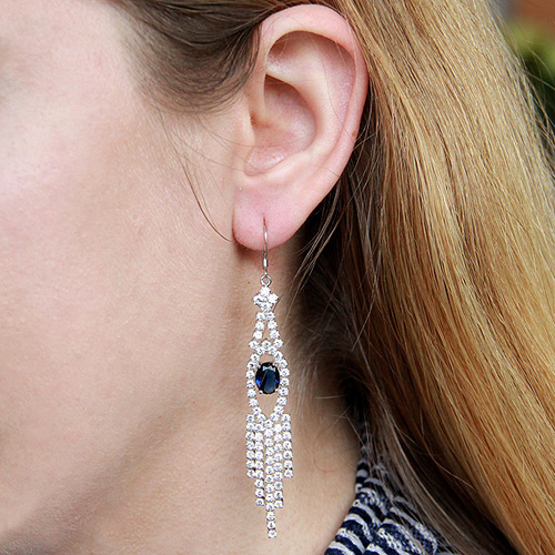 boucle oreille femme argent zirconium 9300126 pic5