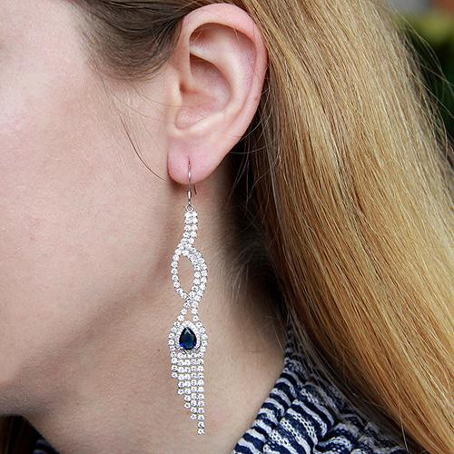 boucle oreille femme argent zirconium 9300127 pic5