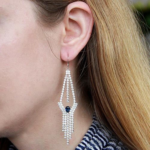 boucle oreille femme argent zirconium 9300128 pic5