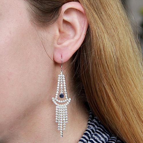 boucle oreille femme argent zirconium 9300129 pic5