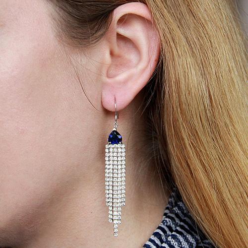 boucle oreille femme argent zirconium 9300131 pic5