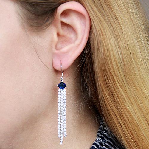 boucle oreille femme argent zirconium 9300132 pic5