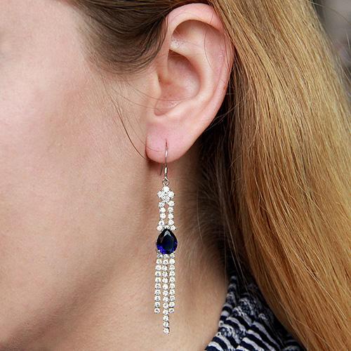 boucle oreille femme argent zirconium 9300133 pic5