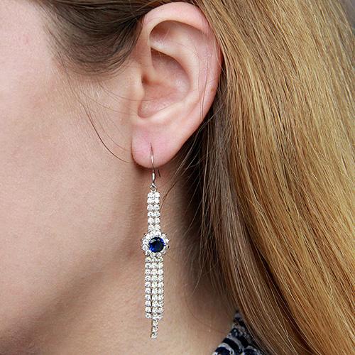 boucle oreille femme argent zirconium 9300135 pic5